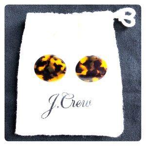 J. Crew Classic Tortoise Disc Earrings